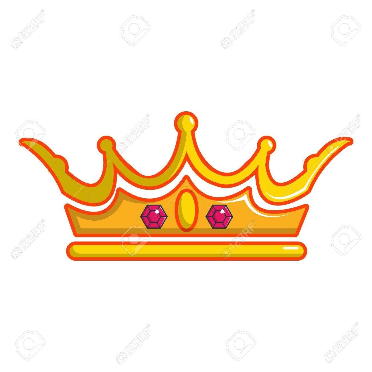Icono De La Corona De La Reina Ilustración De Dibujos Animados De