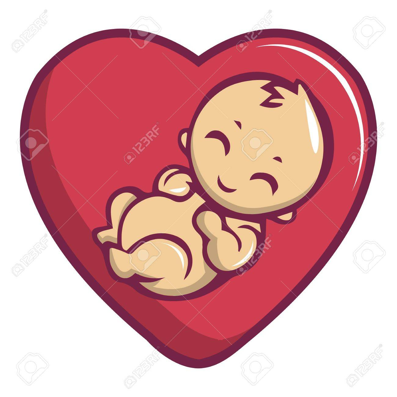 Baby love icon. Cartoon illustration of baby love vector icon for web design - 83066733