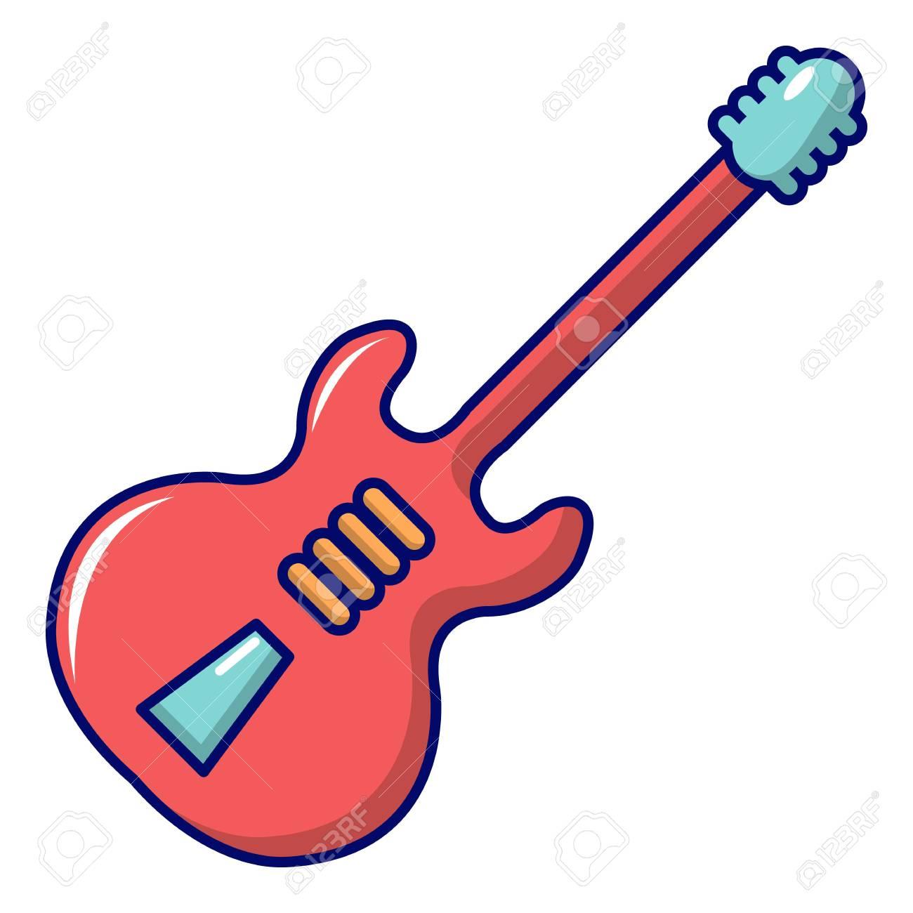 Icono De La Guitarra Eléctrica Ilustración De Dibujos Animados De Icono De Vector De Guitarra Eléctrica Para Diseño Web