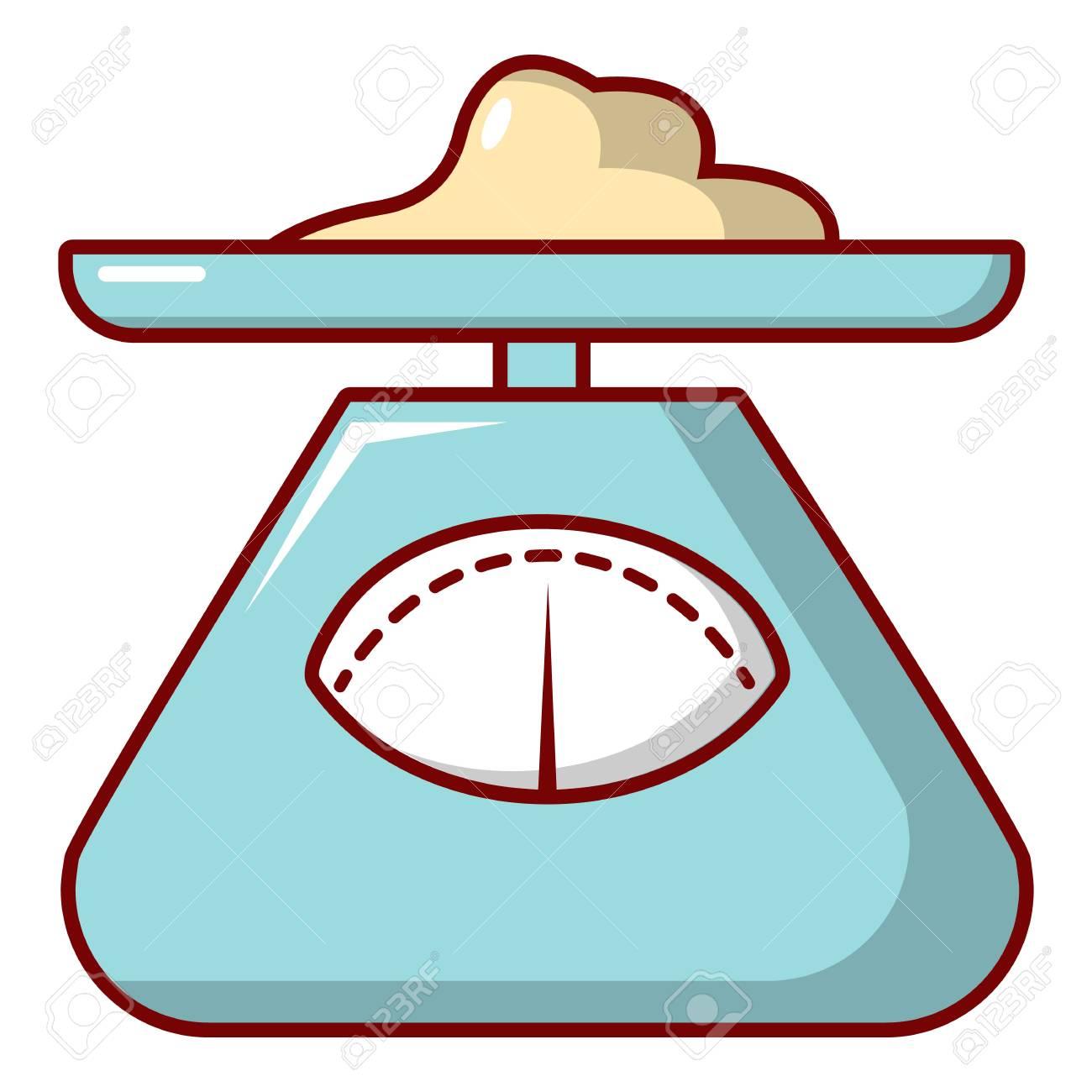 Balanza De Cocina Icono. Ilustración De Dibujos Animados De Balanzas ...