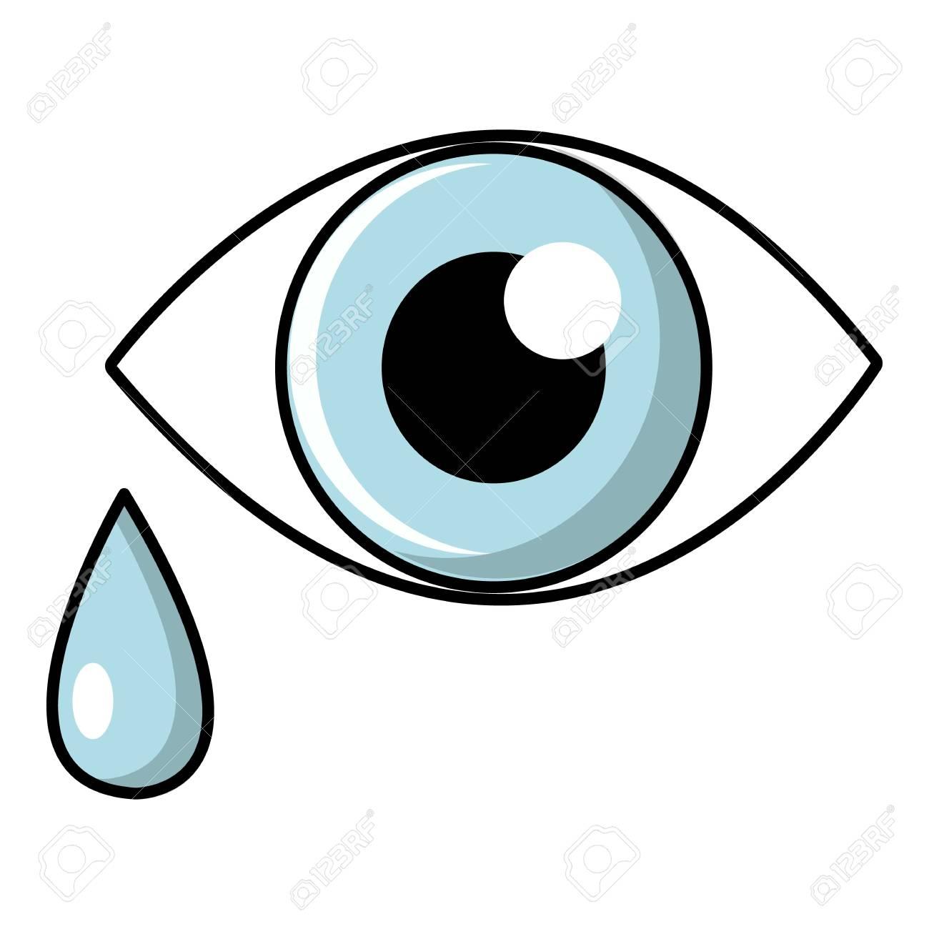 Icono De Ojo Llorando Ilustración De Dibujos Animados De Ojos