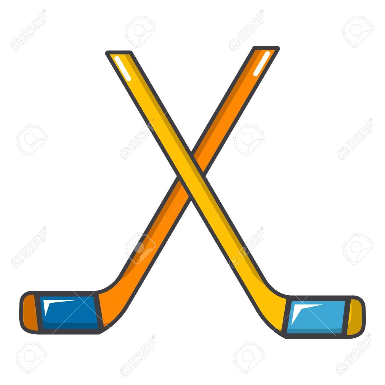 ice hockey sticks icon cartoon illustration of ice hockey sticks rh 123rf com cartoon hockey stick clipart cartoon hockey stick clipart