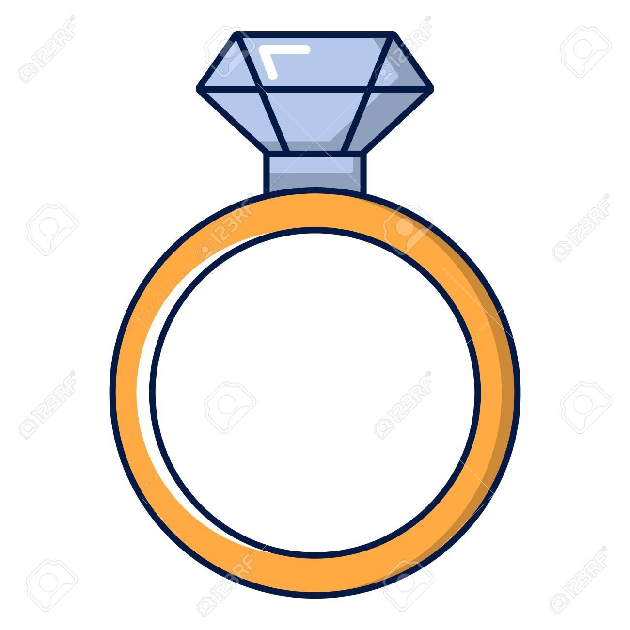 dessin bague diamant