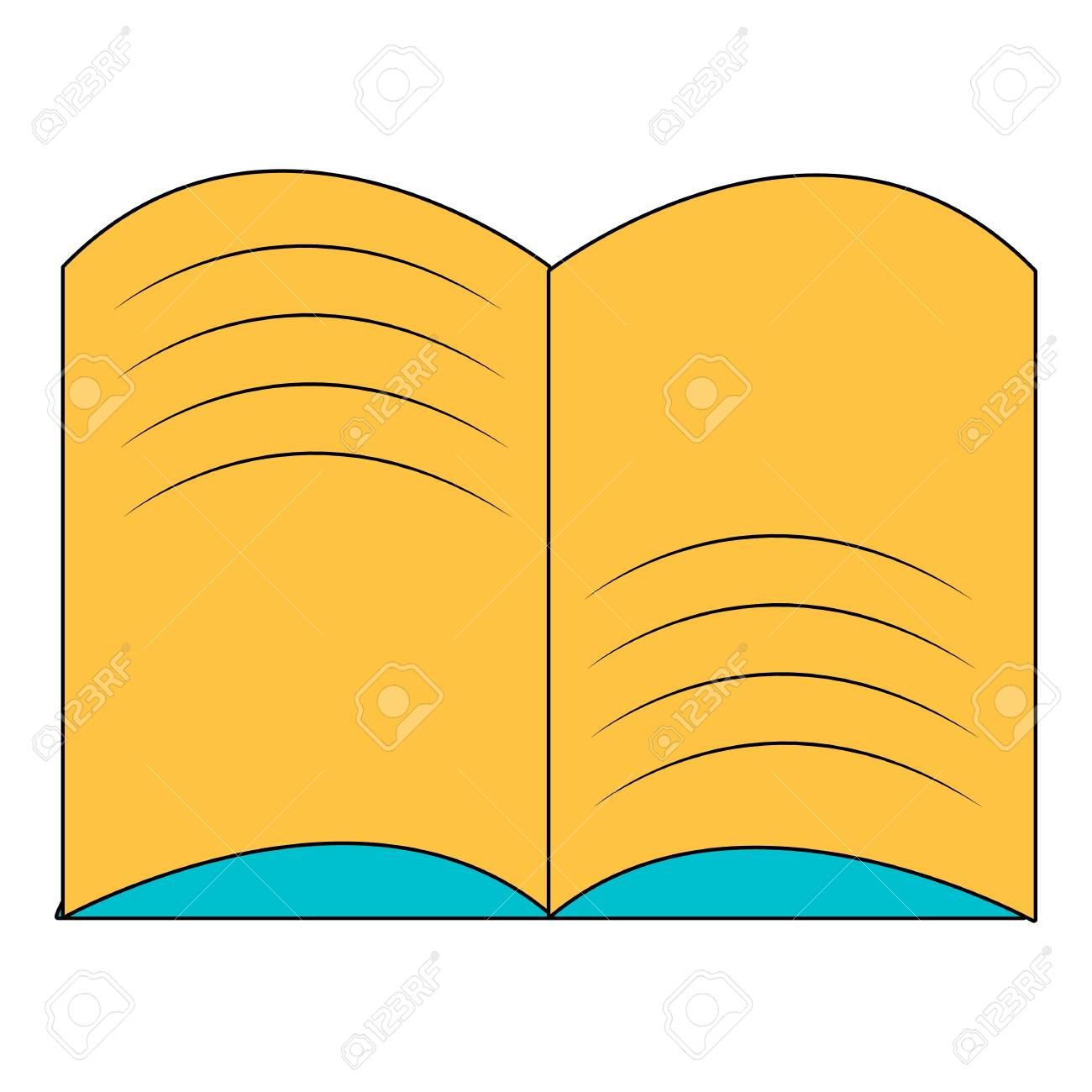 old open magic book icon cartoon style royalty free cliparts rh 123rf com