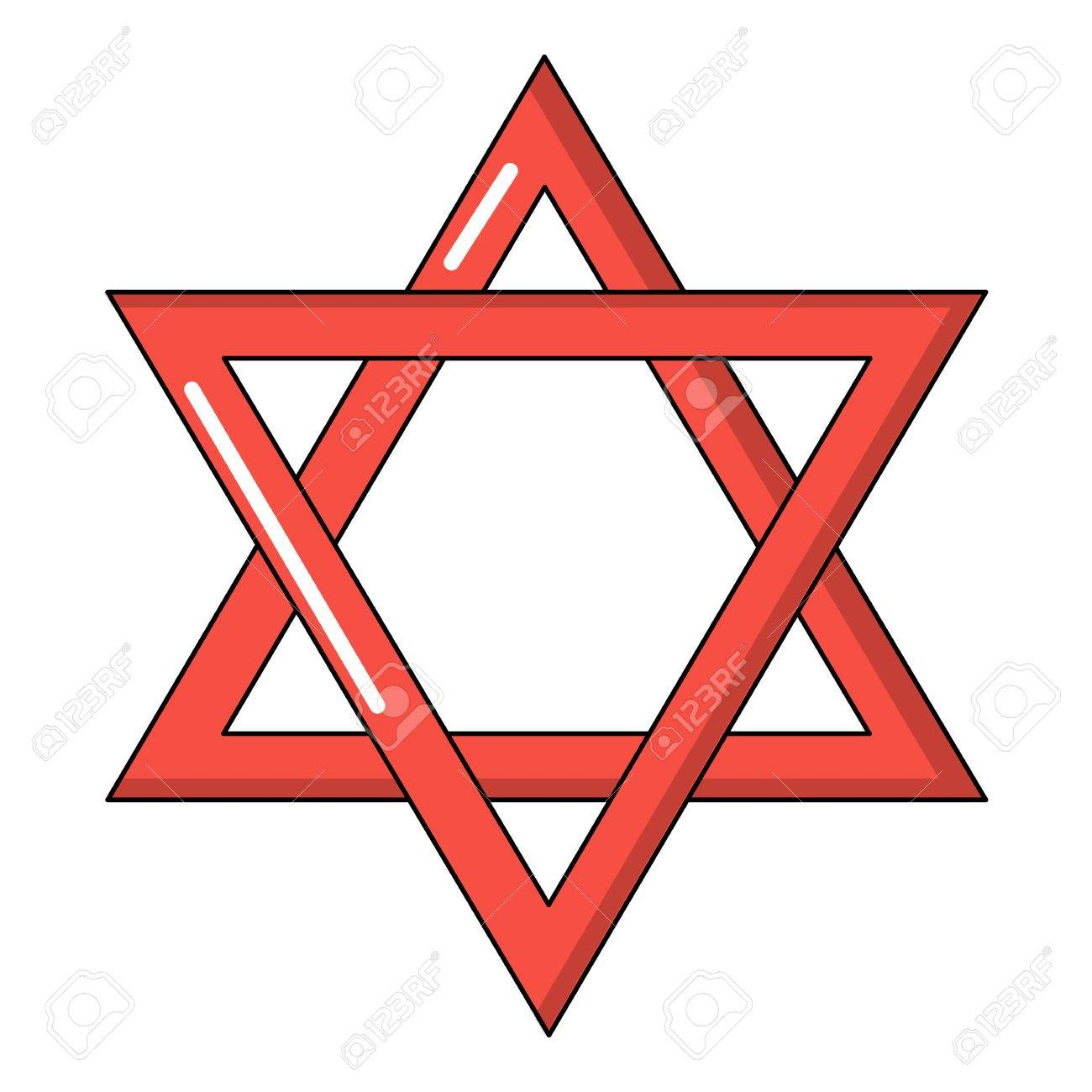 star of david judaism icon cartoon style royalty free cliparts rh 123rf com star of david vector free star of david vector image