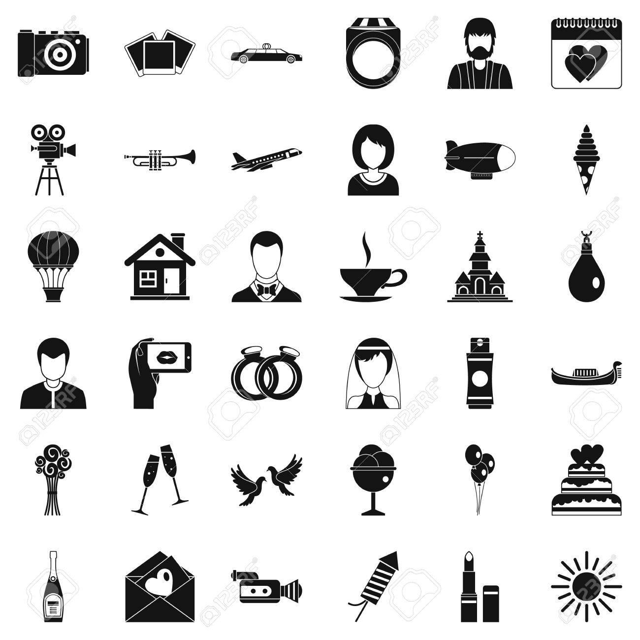 Frohliche Hochzeit Symbole Festgelegt Einfache Art Von 36 Frohliche