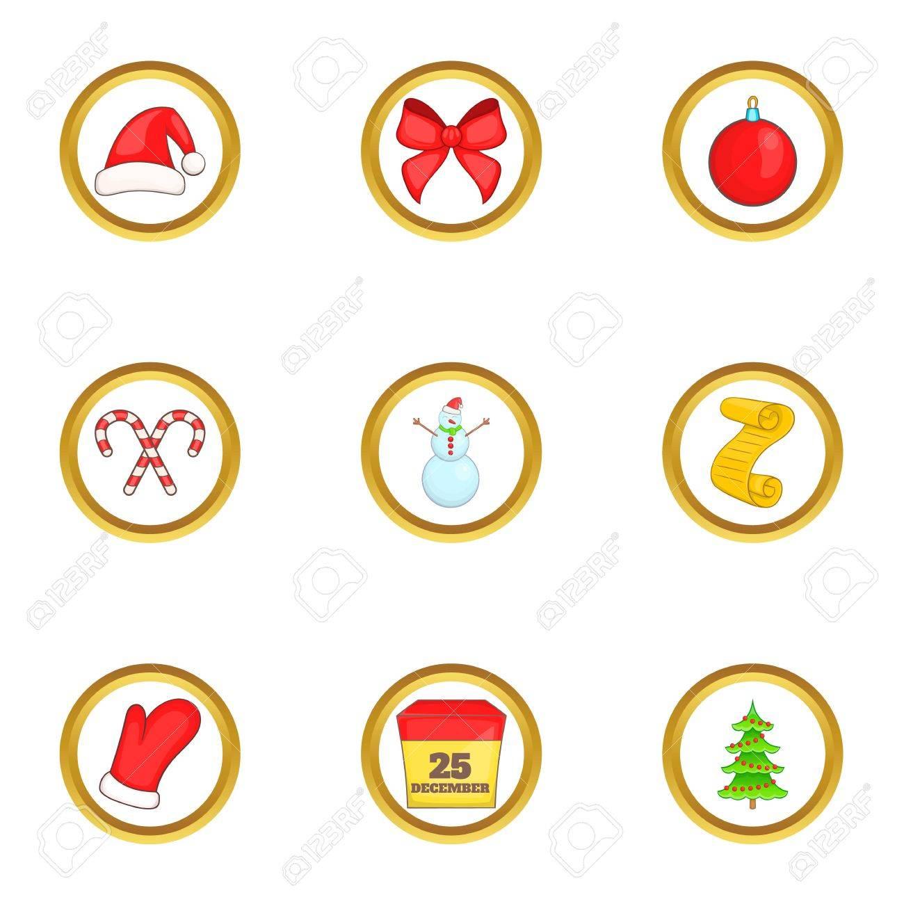 Christmas Things.Christmas Things Icons Set Cartoon Set Of 9 Christmas Things