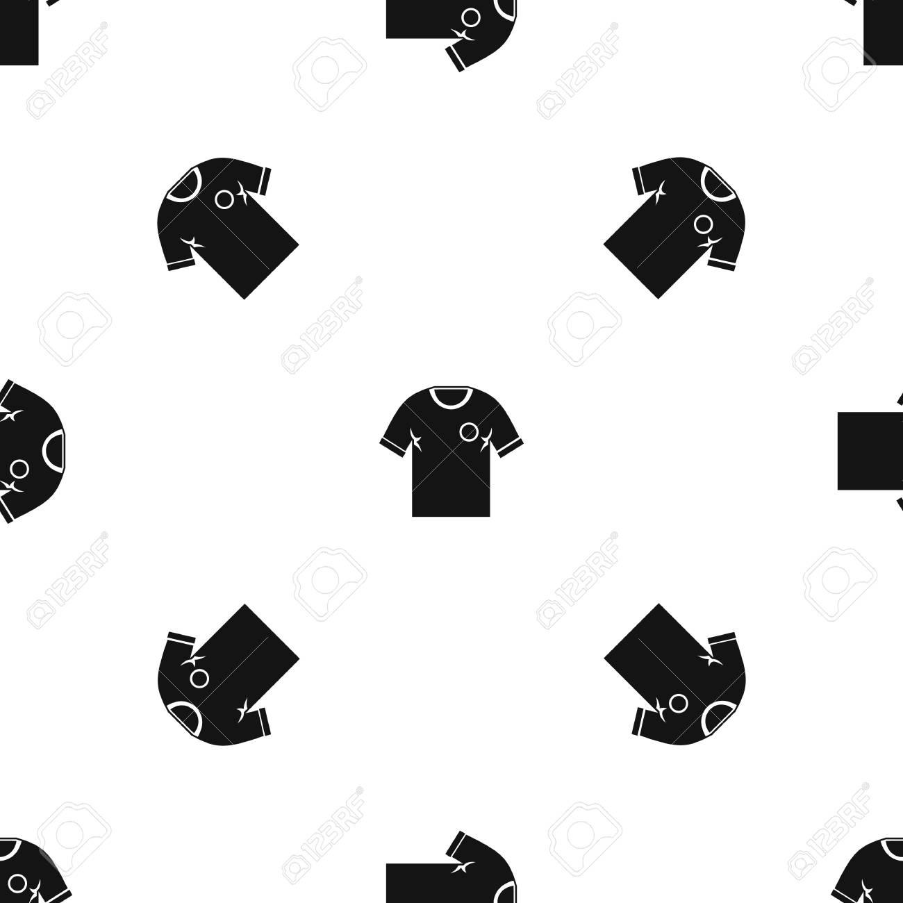 Repetición del patrón de camisa de fútbol sin costura en color negro para  cualquier diseño. Ilustración geométrica de vector
