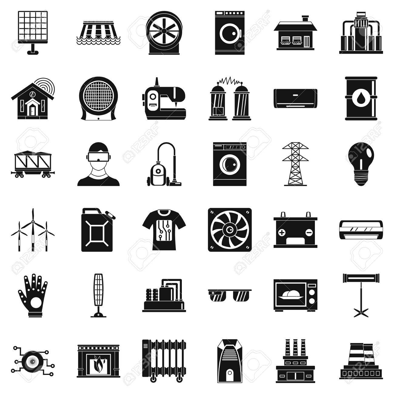 Electrical Engineering Icons Set Simple Style Of 36 Electrical