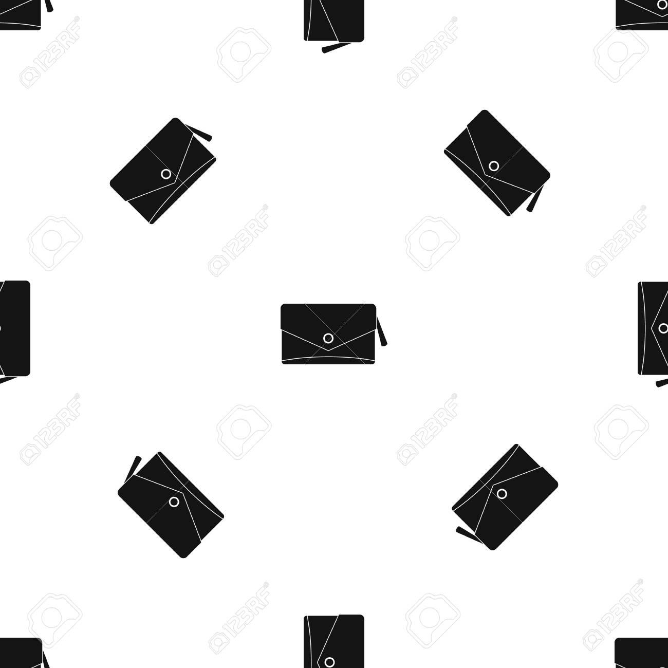 Patrón Pequeño Bolso Sin Costura Negro Ilustraciones Vectoriales ...