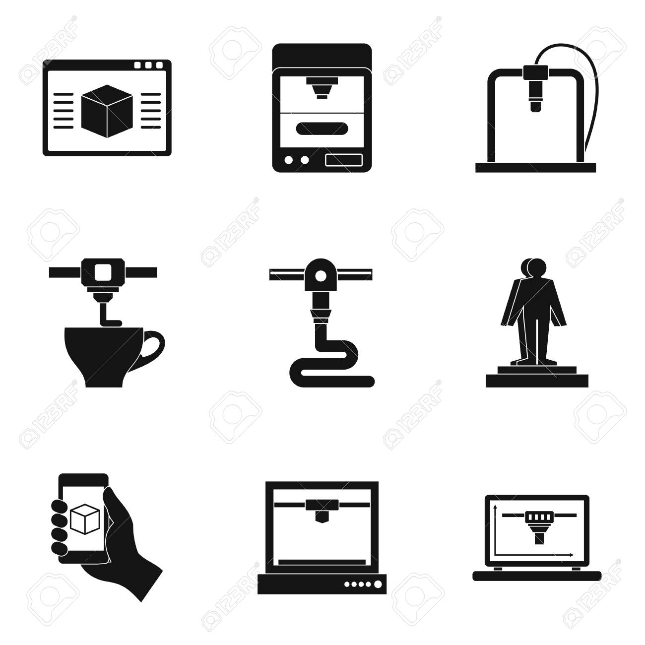 futuristic 3d printer icon set simple set of 9 futuristic 3d royalty free cliparts vectors and stock illustration image 84283226 futuristic 3d printer icon set simple set of 9 futuristic 3d