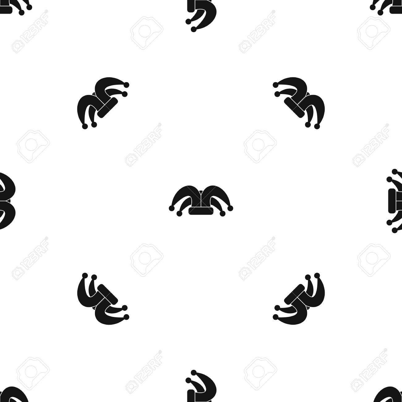Clown hat pattern seamless black Stock Vector - 84505423 7a24cabc480