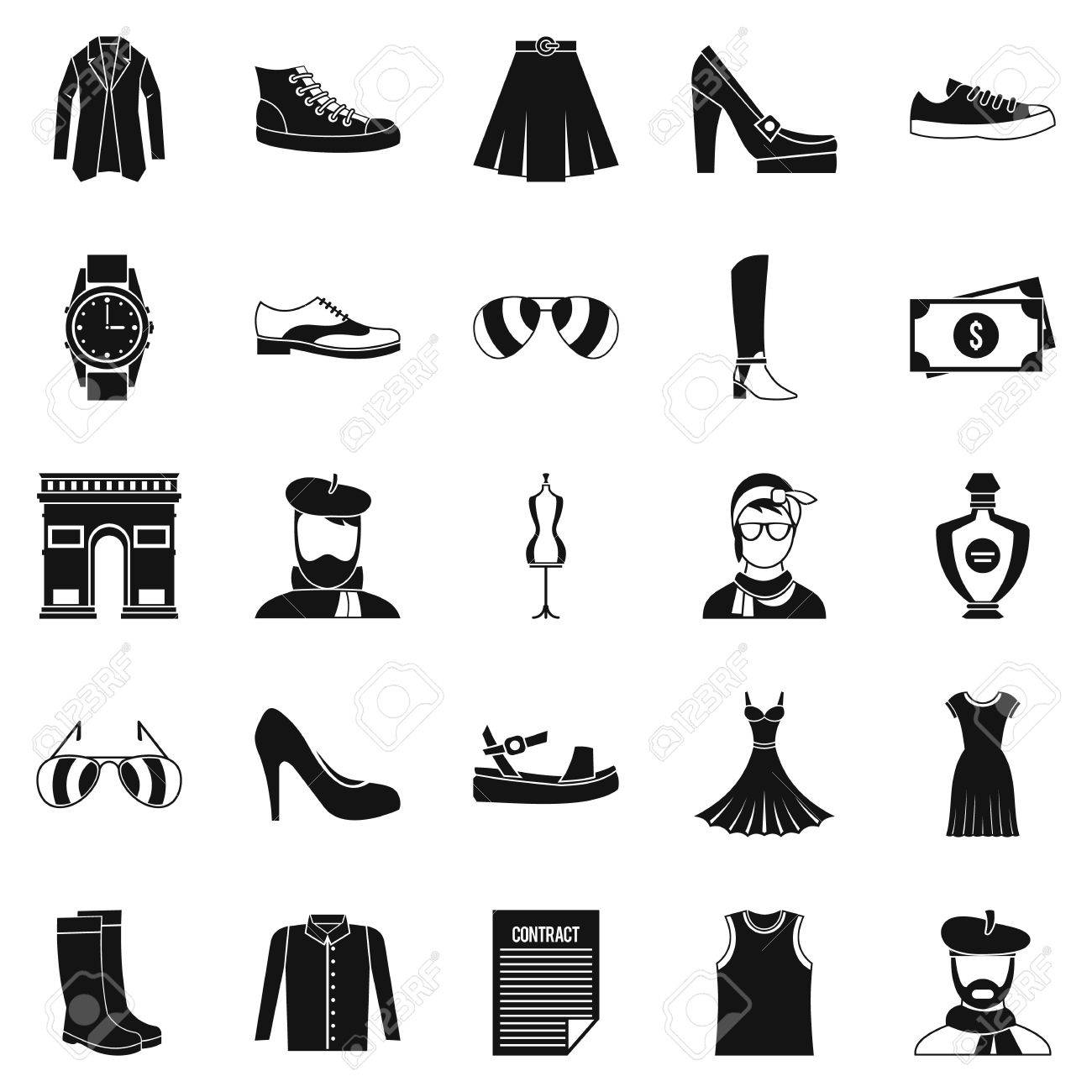 Old fashion icons set. Cartoon set of 25 old fashion vector icons..