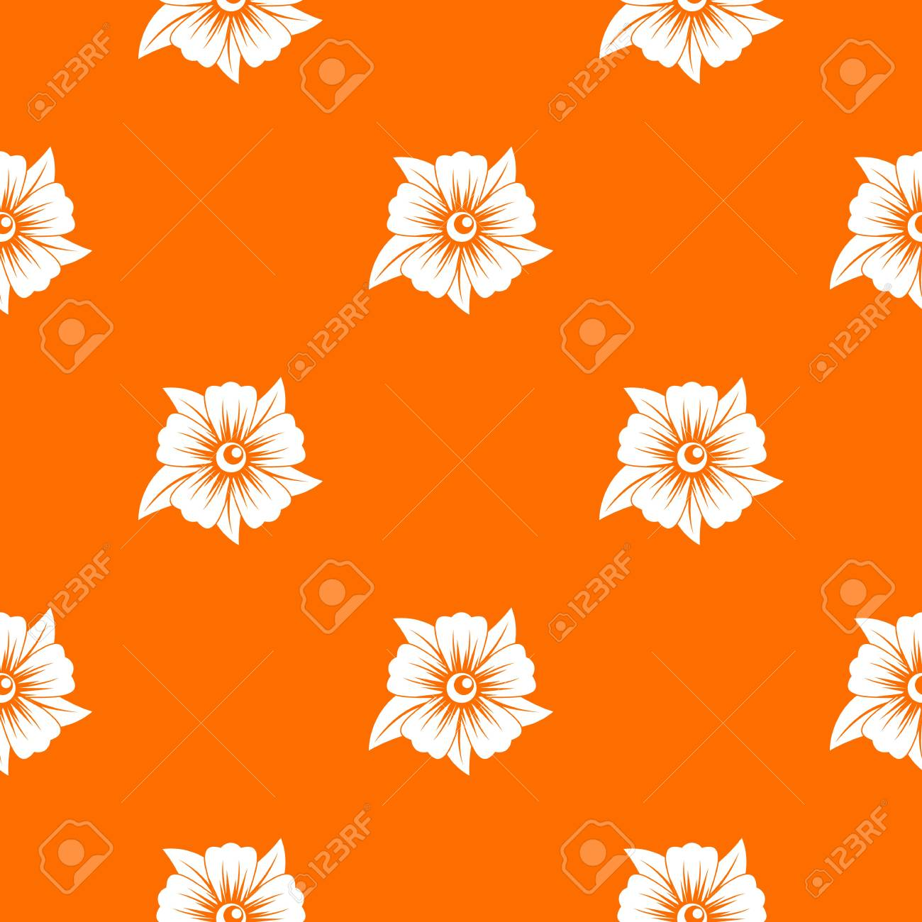 flower pattern repeat seamless in orange color for any design rh 123rf com vintage flower vector pattern vector flower patterns background free download