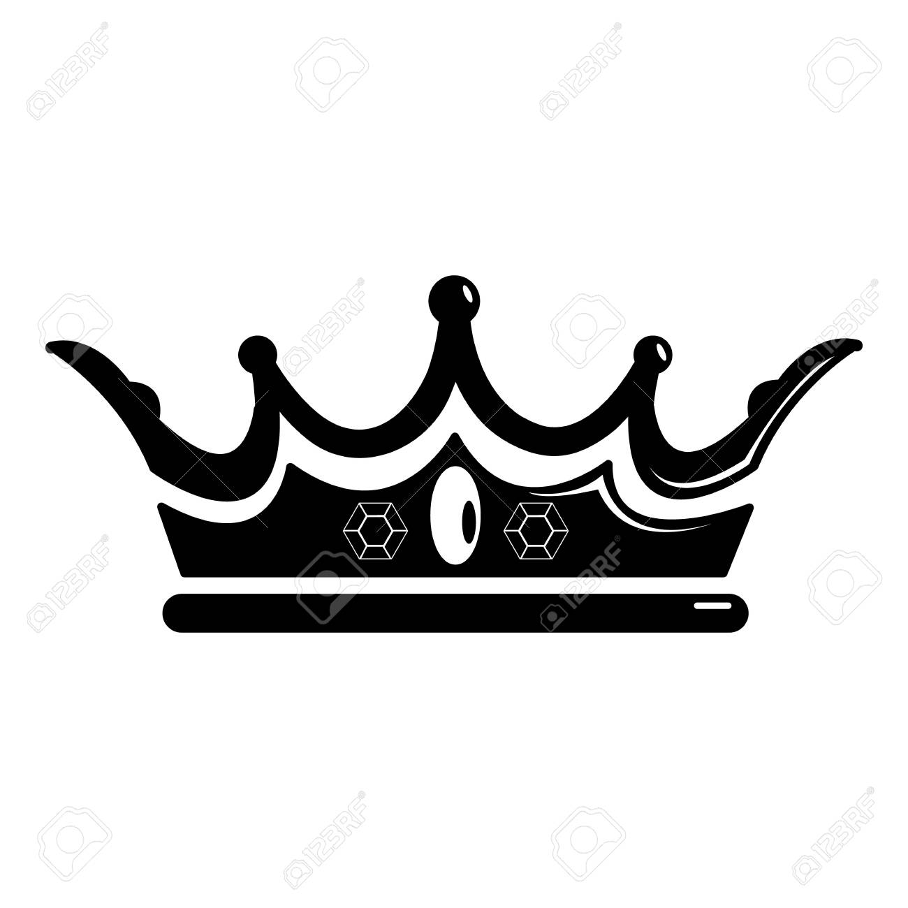 princess crown icon simple illustration of princess crown vector rh 123rf com princess crown vector free princess crown vector image