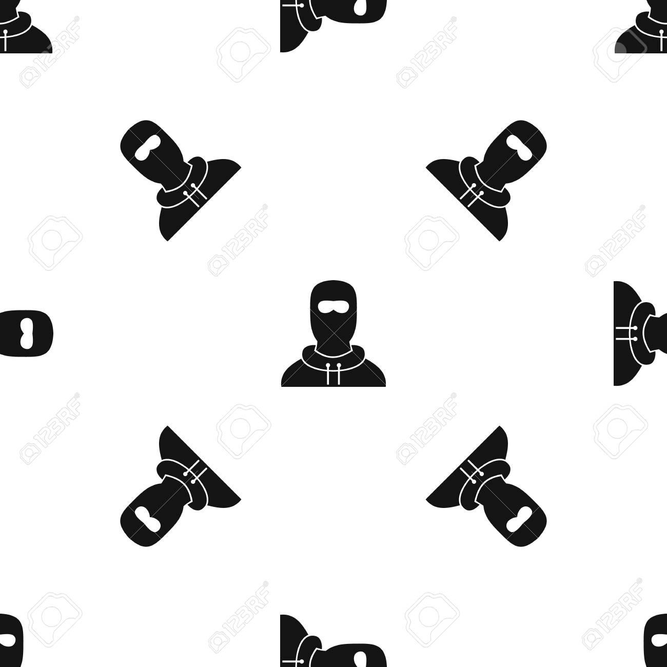 Hombre En Patrón De Pasamontañas Transparente Negro Ilustraciones ...