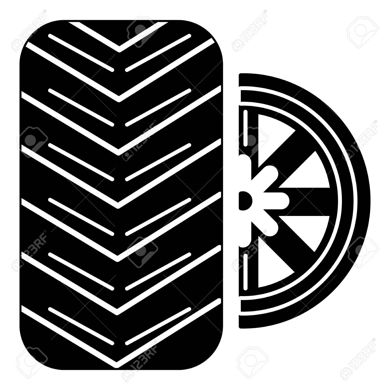 tire icon simple illustration of tire vector icon for web royalty