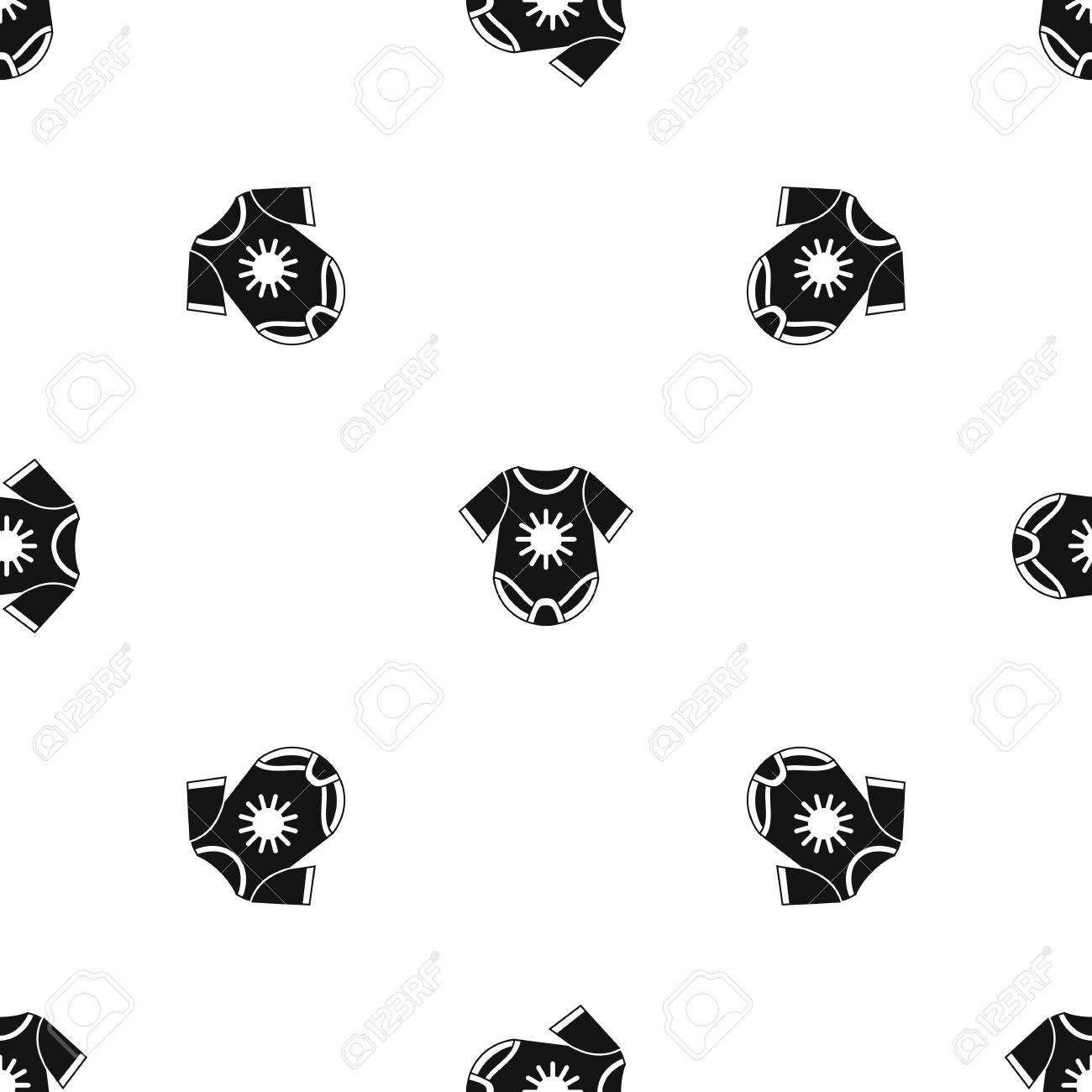 Bebé Mono Patrón Repetición Sin Costuras En Color Negro Para ...