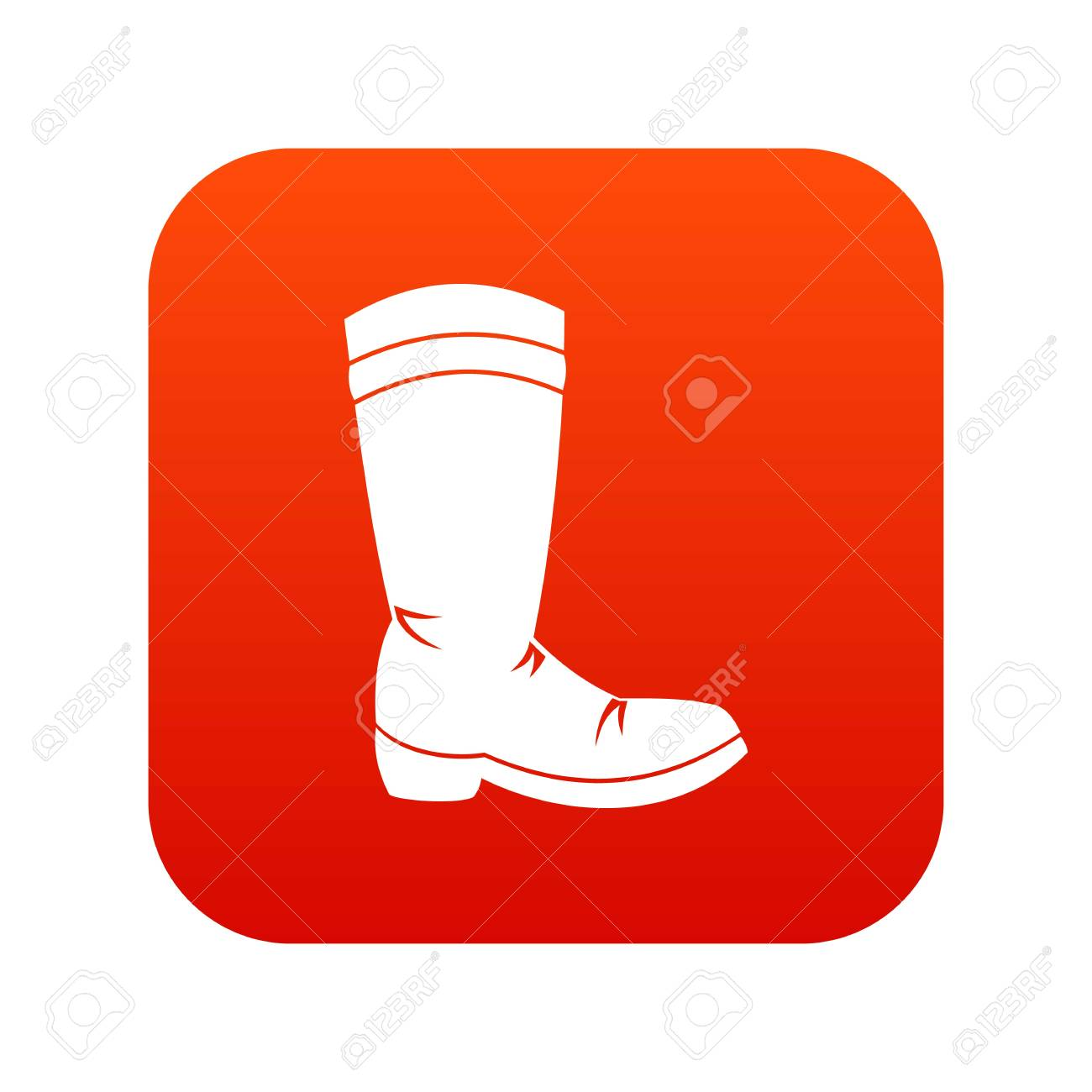 a0118a26ac7 Cowboy Boot Icon Digital Red Royalty Free Cliparts, Vectors, And ...