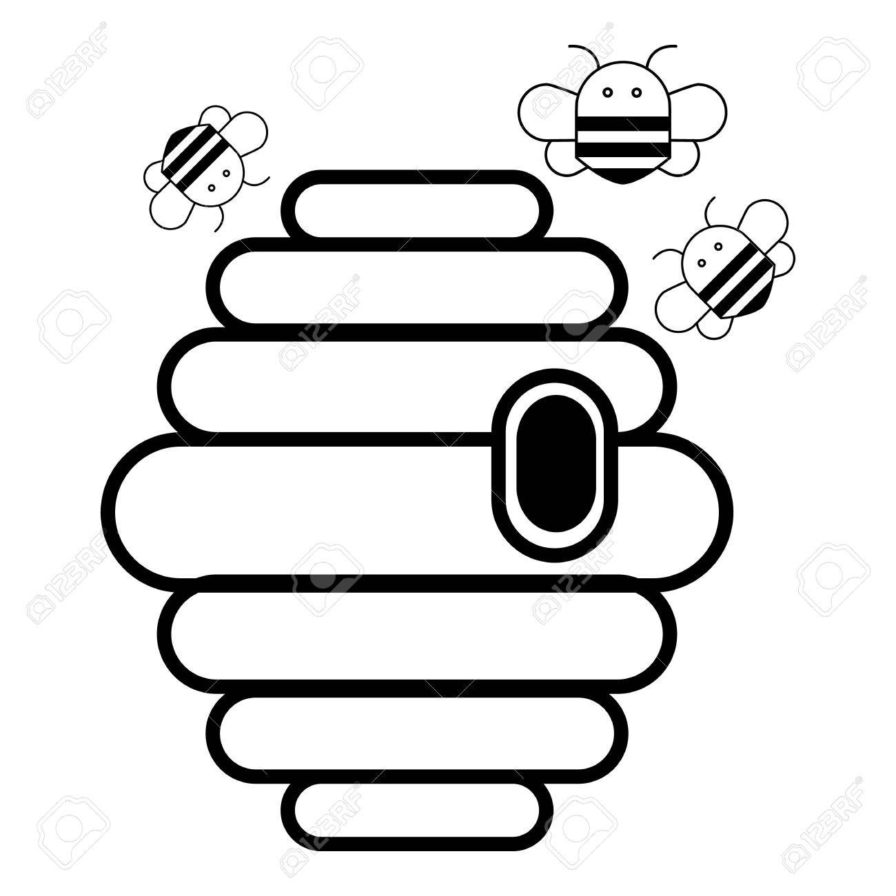 Beehive swarm icon outline illustration of swarm vector icon beehive swarm icon outline illustration of swarm vector icon for web design isolated on white publicscrutiny Images