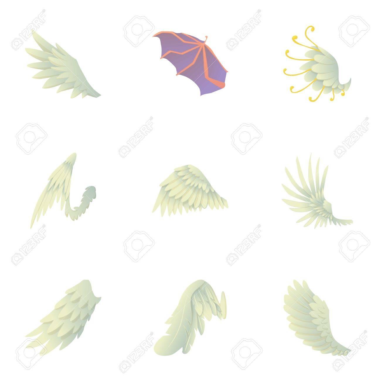 Ailes D Ange Et Diable Ensemble D Icônes Jeu De Dessin Animé De 9 Ailes D Ange Et Diable Vector Icons Pour Web Isolé Sur Fond Blanc
