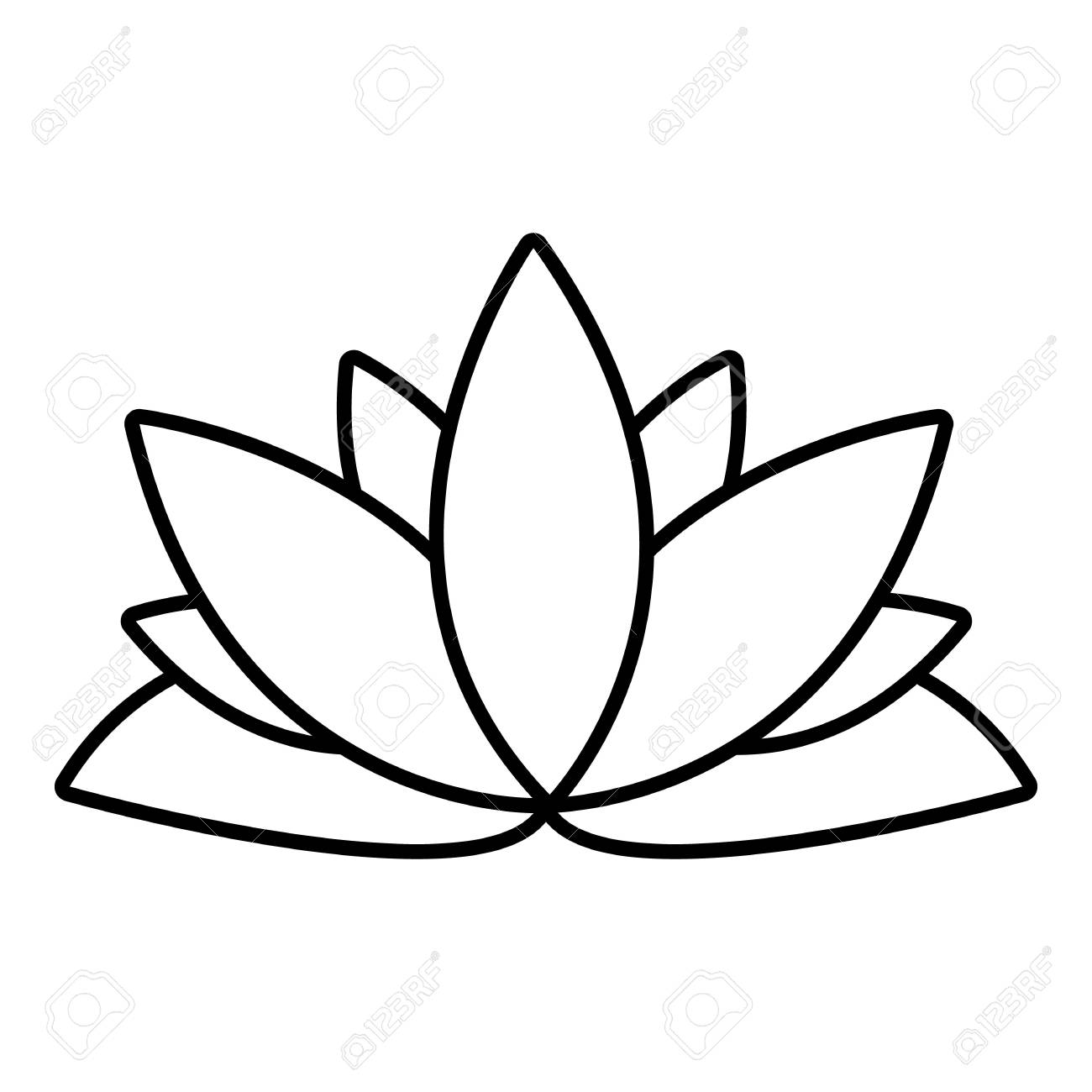 Lotus flower icon outline illustration of lotus flower vector lotus flower icon outline illustration of lotus flower vector icon for web design isolated on mightylinksfo