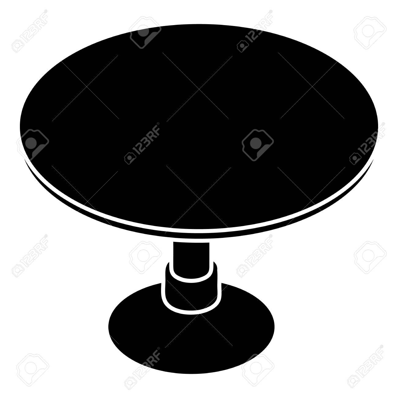 82c02093614b Round table icon. Simple illustration of round table vector icon for web  design isolated on