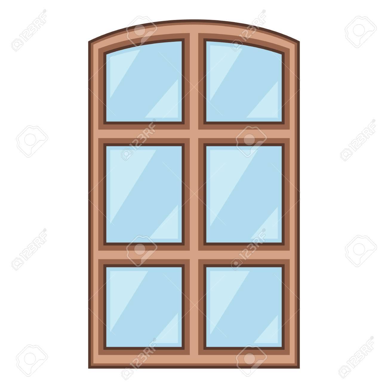 Icône De Cadre De Fenêtre En Bois Style Cartoon Clip Art Libres De