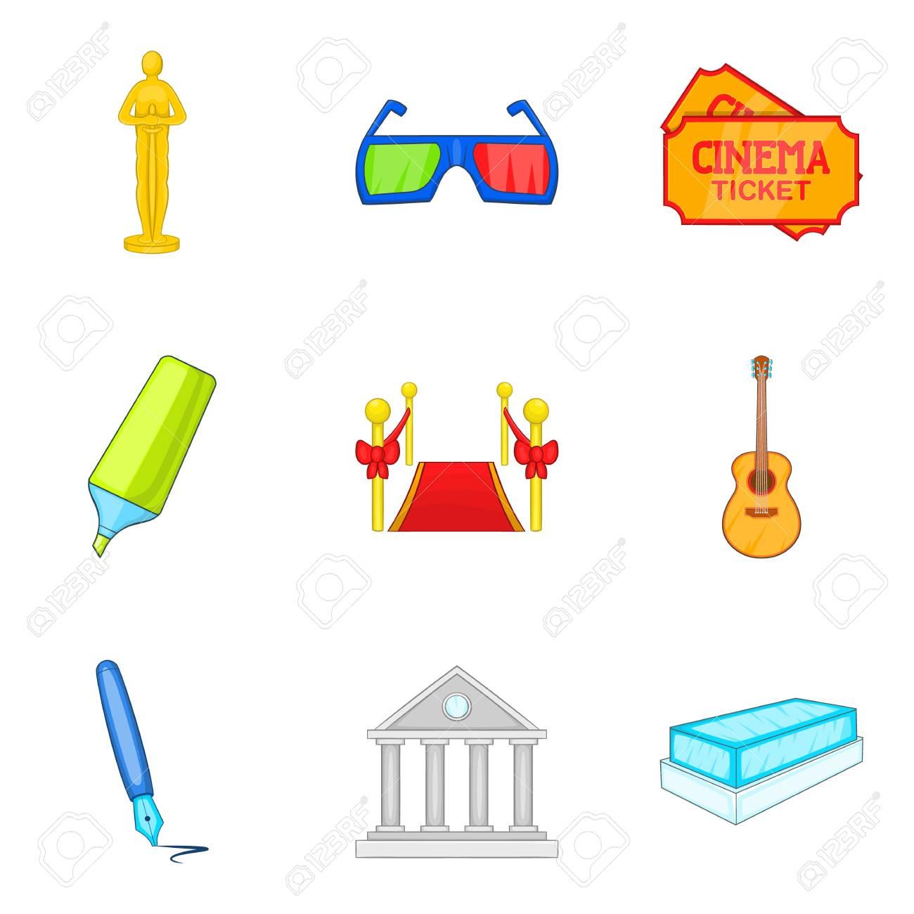 film creator icons set cartoon style royalty free cliparts vectors rh 123rf com vector creator software vector creator android