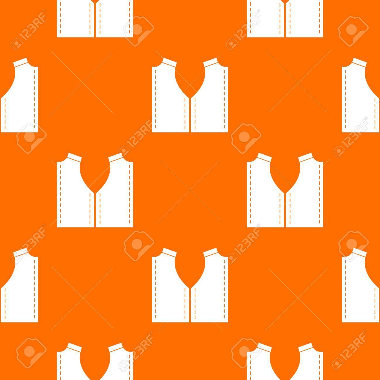 Muster Für Das Nähen Der Musterwiederholung Nahtlos In Der Orange ...