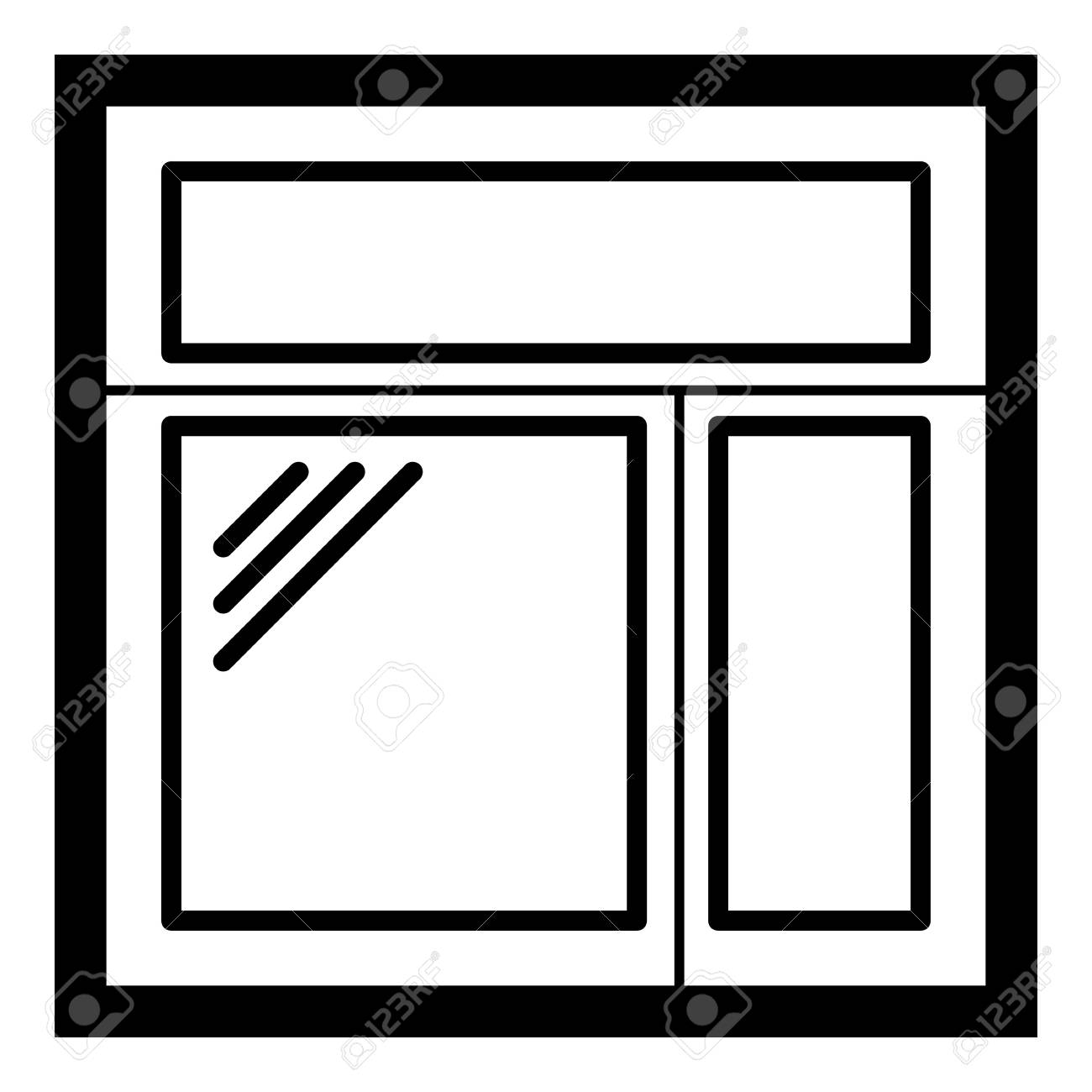 Square Window Frame Icon. Simple Illustration Of Square Window ...