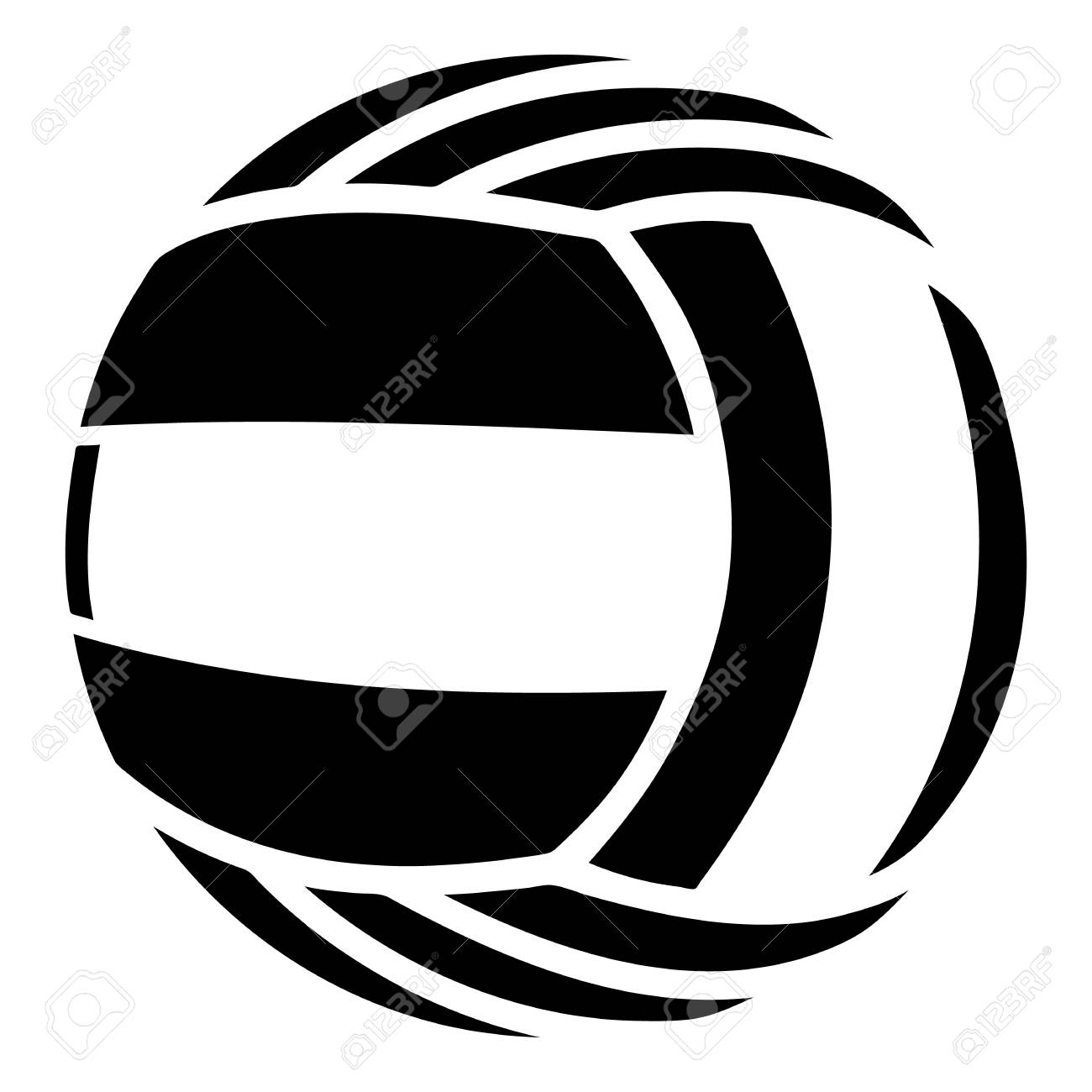 volleyball icon simple illustration of volleyball vector icon rh 123rf com volleyball vector clip art free volleyball vector art
