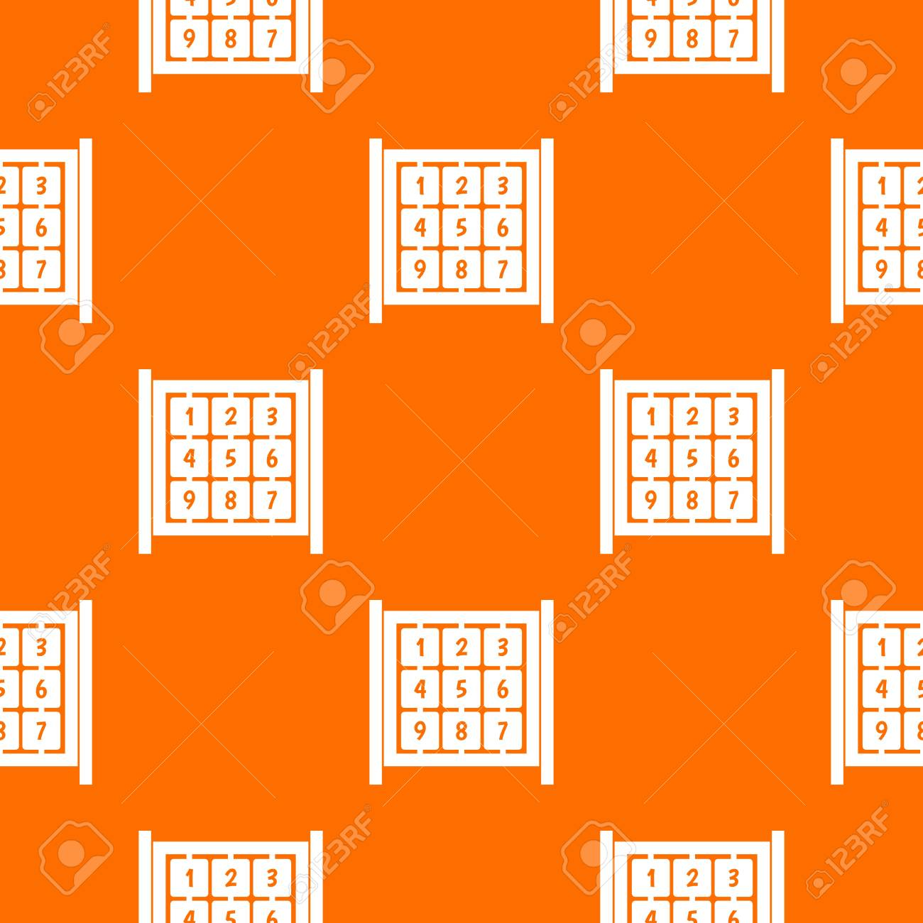 Cubi Con Numeri Sul Modello Di Parco Giochi Senza Soluzione Di