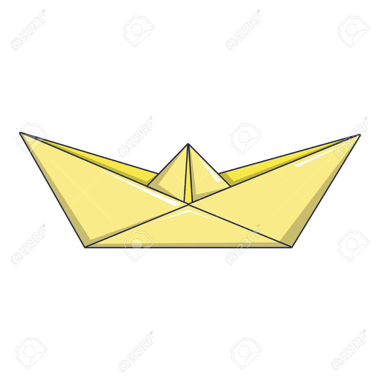 Origami Boat Icon Cartoon Illustration Of Vector For Web Stock