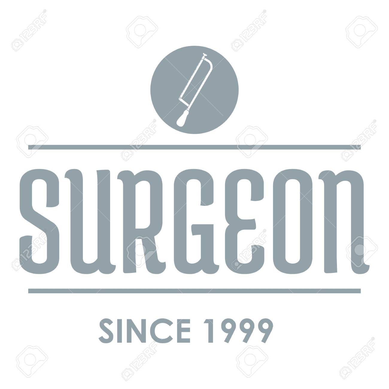 Surgeon Logo Gray Monochrome Illustration Of Surgeon Vector Royalty Free Cliparts Vectors And Stock Illustration Image 88023959