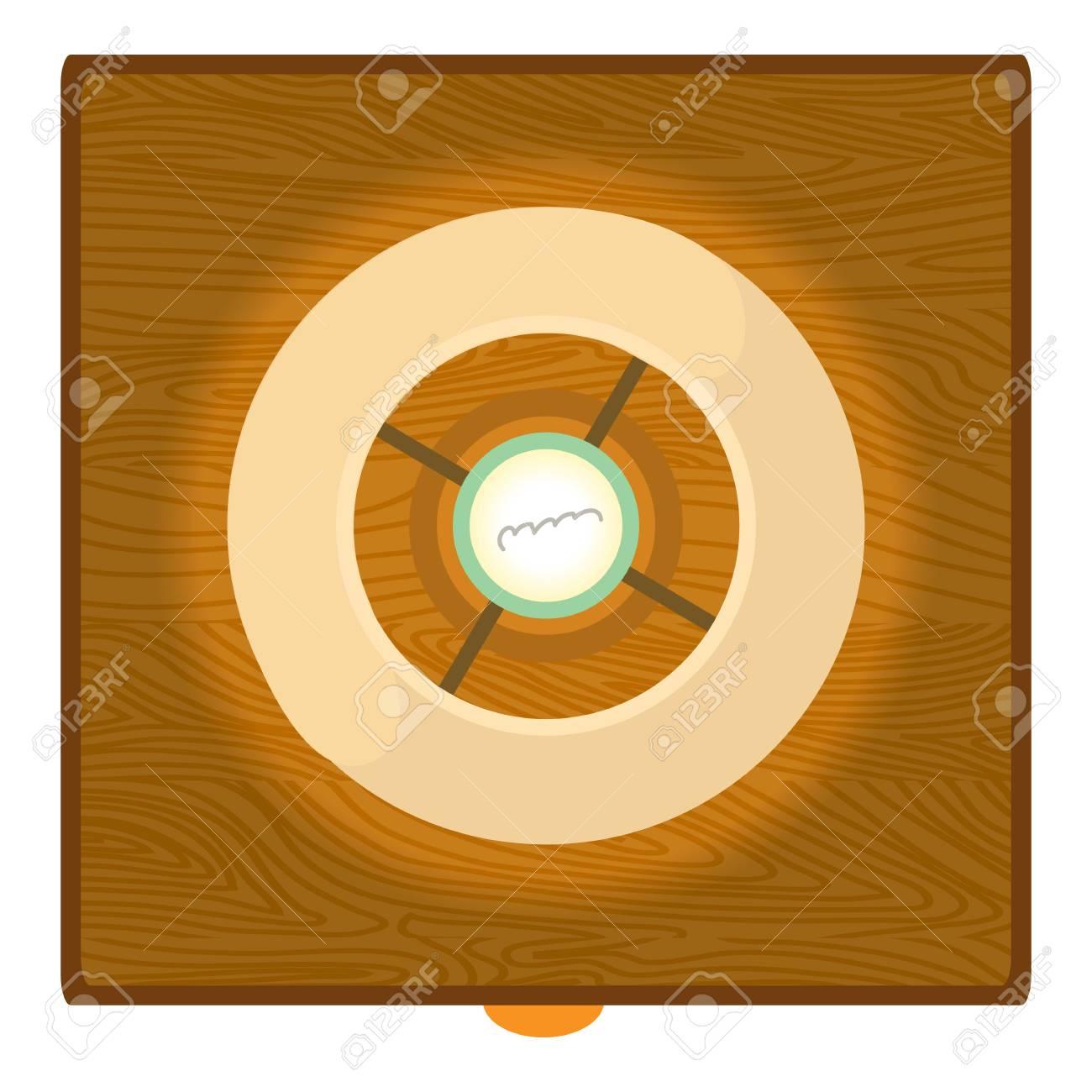 Colgando icono de la lámpara del techo. Ilustración de dibujos animados de icono de la lámpara de vector para el diseño web