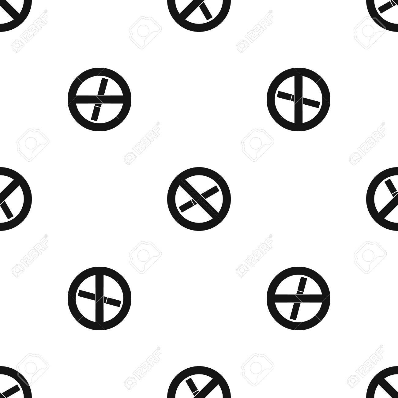 Healthy Habits Clipart Black And White Images Gallery No Smoking Sign Pattern Seamless Royalty Free Cliparts Rh 123rf Com