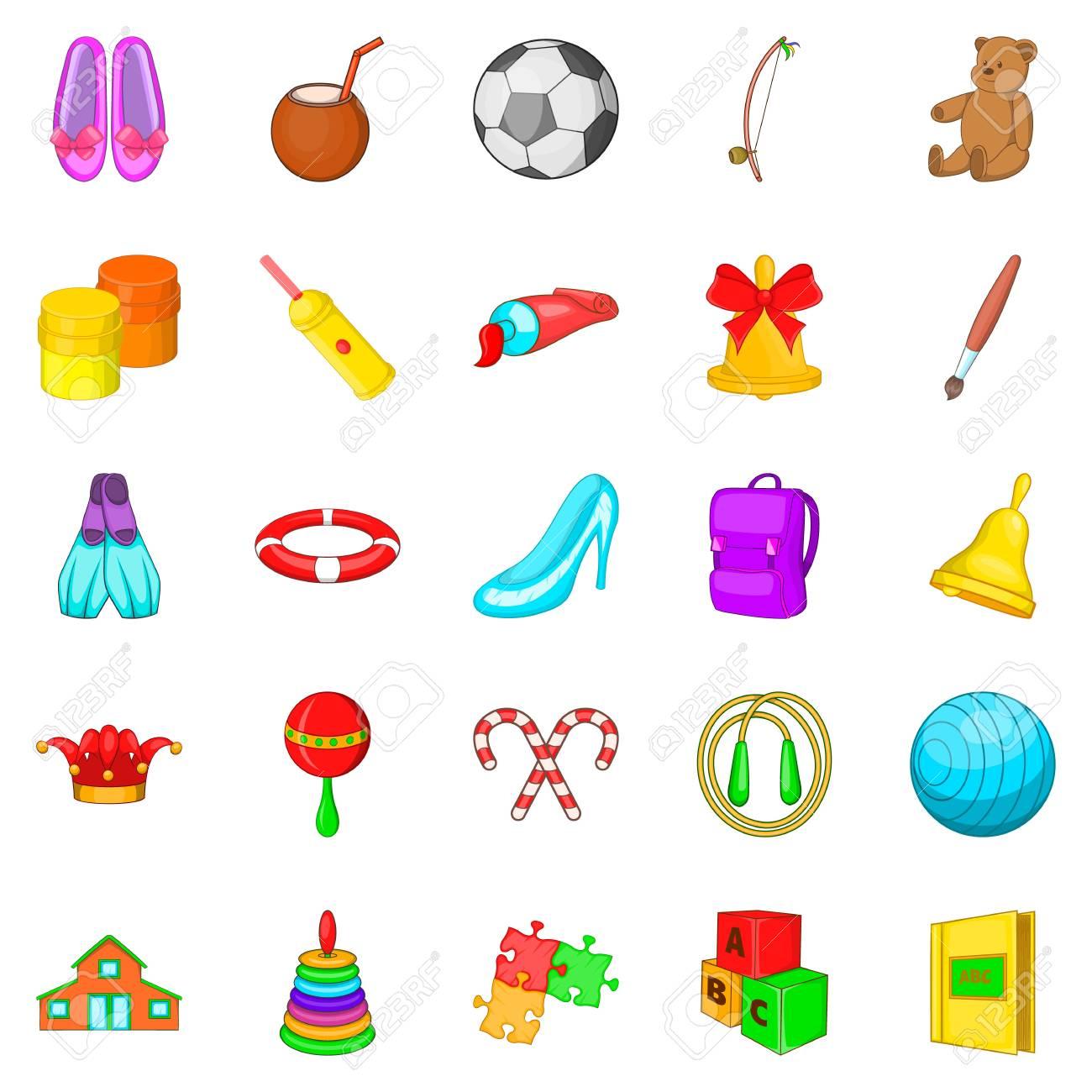 banque dimages dcoration pour ensemble dicnes de fille jeu de dessin anim de 25 dcoration pour les icnes vectorielles de fille pour le web isol
