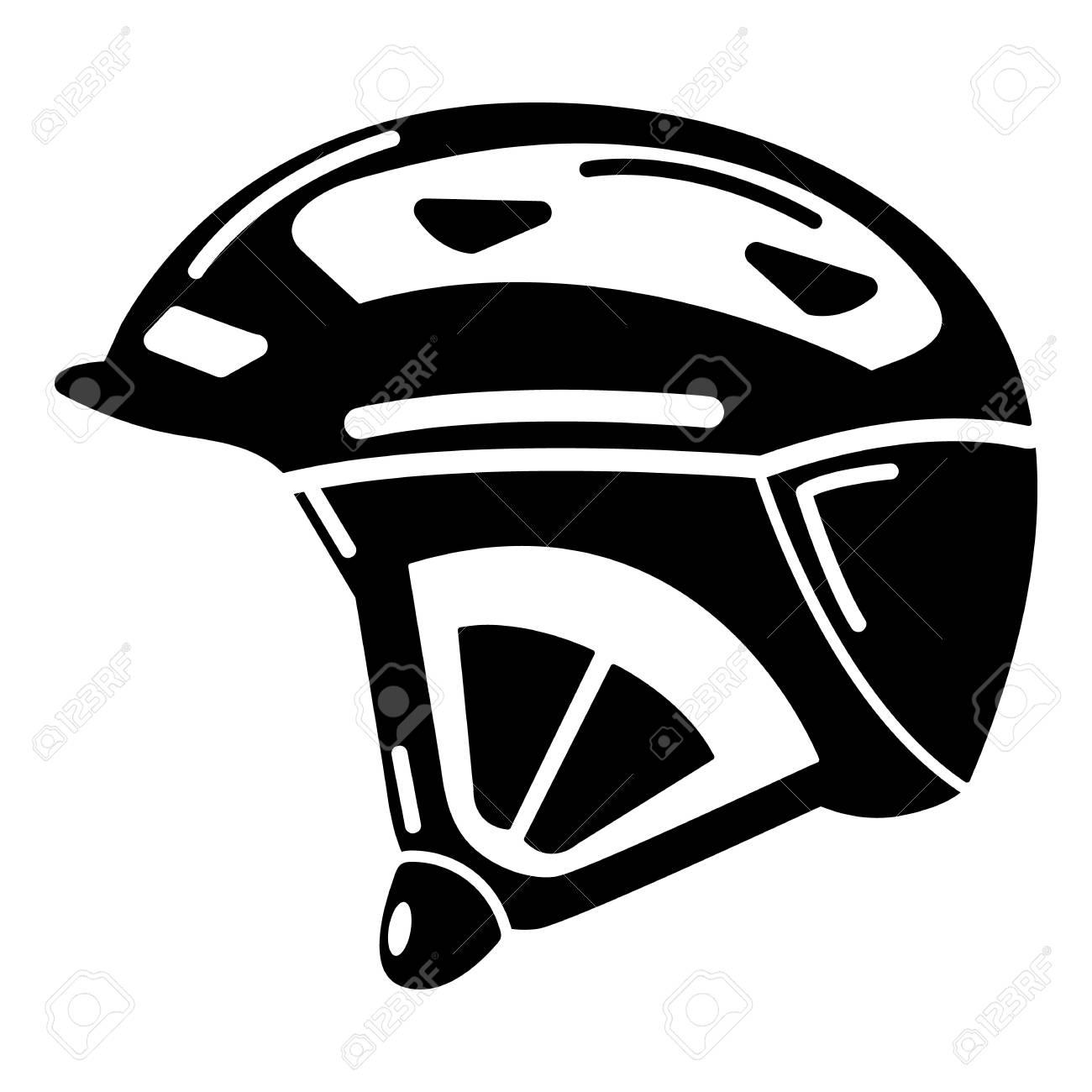 バイク ヘルメット アイコンシンプルな黒のスタイルのイラスト素材