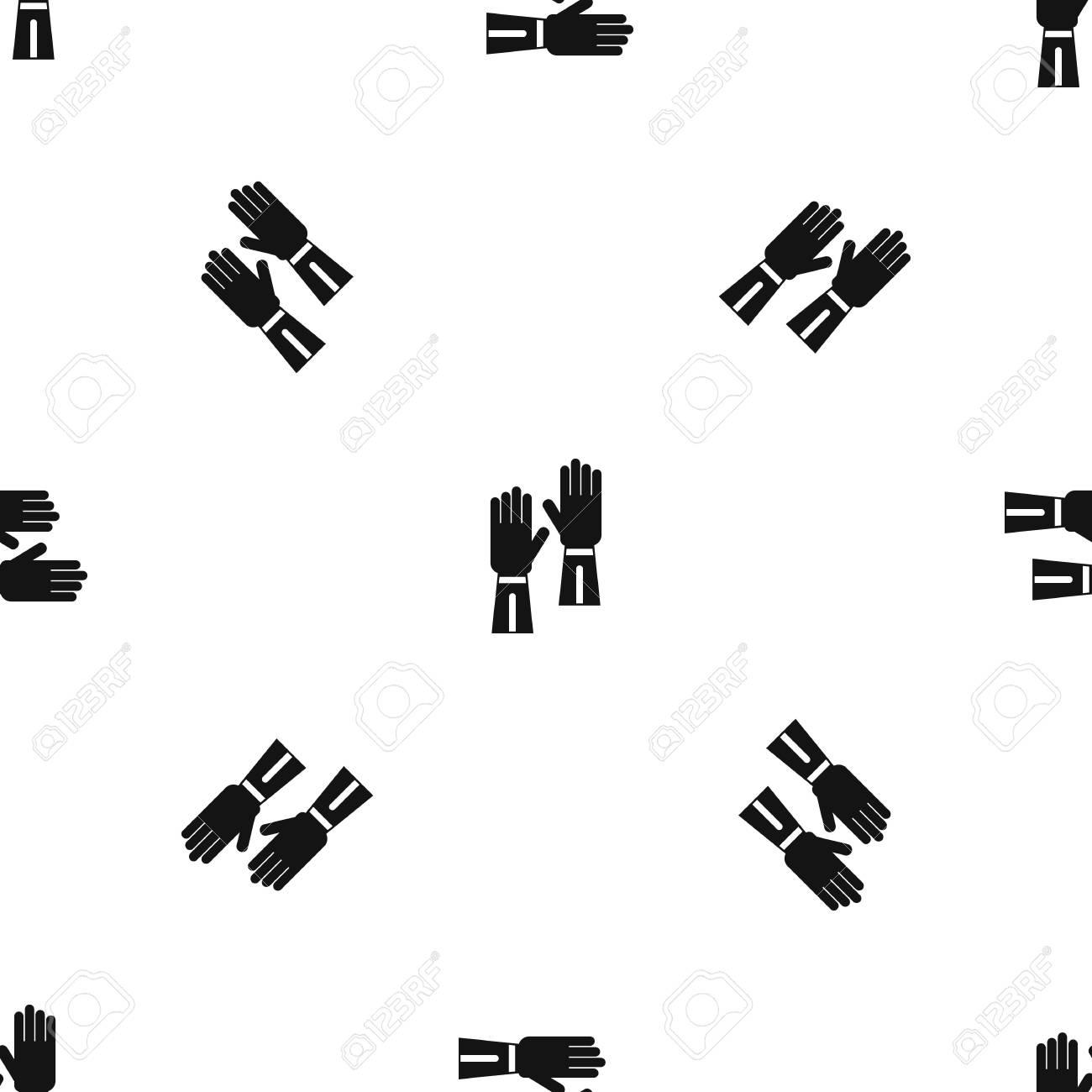 Guantes Sin Costura Patrón Negro Ilustraciones Vectoriales, Clip Art ...
