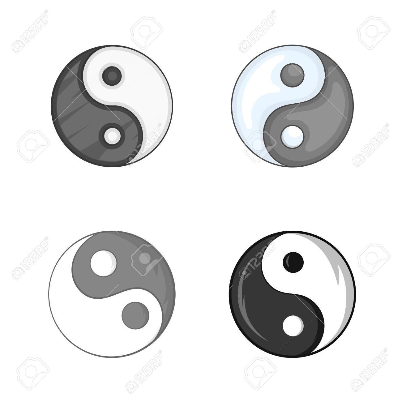 Yin Yang Symbol Icon Set Cartoon Set Of Yin Yang Symbol Vector