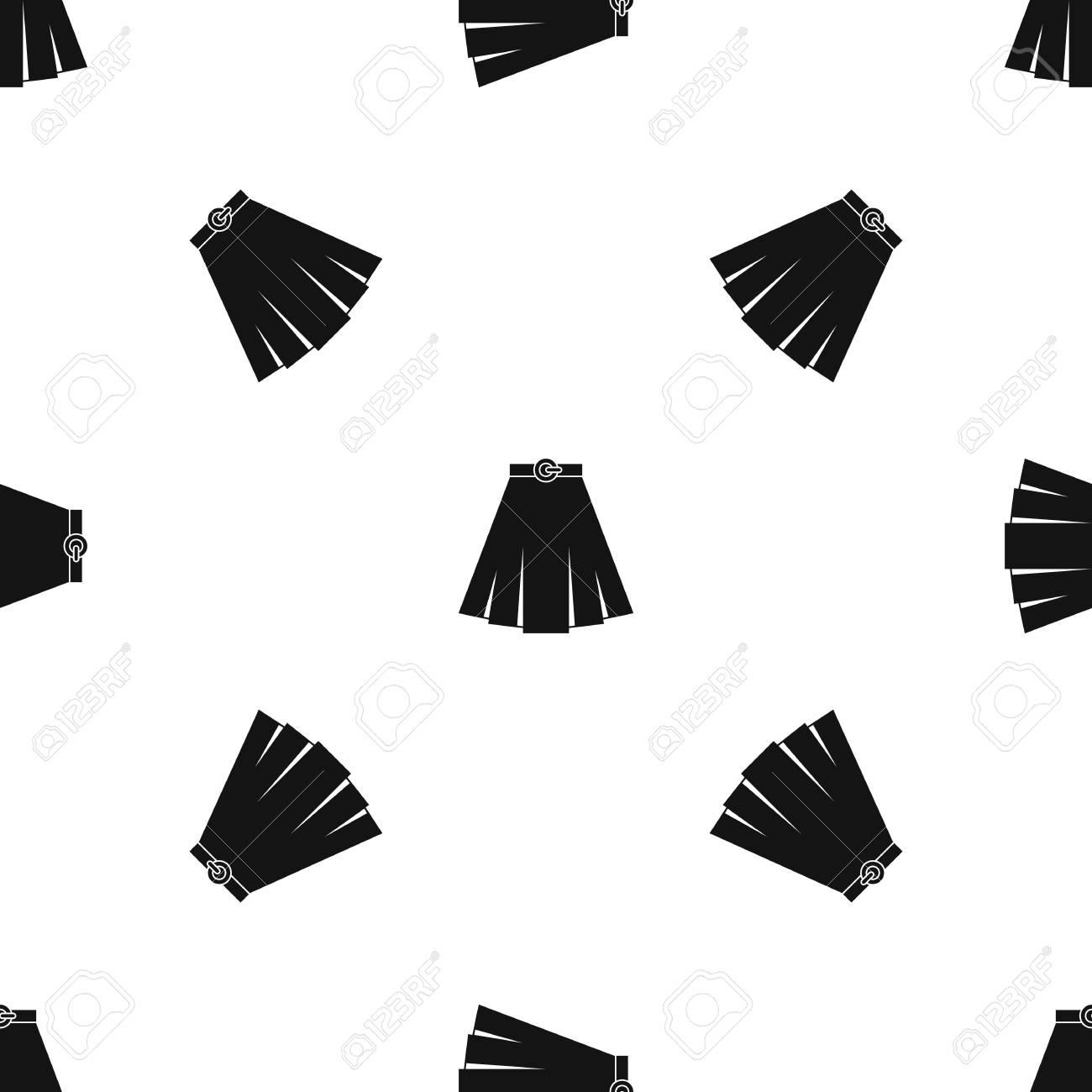 Repita El Patrón De Falda Sin Costuras En Color Negro Para Cualquier ...