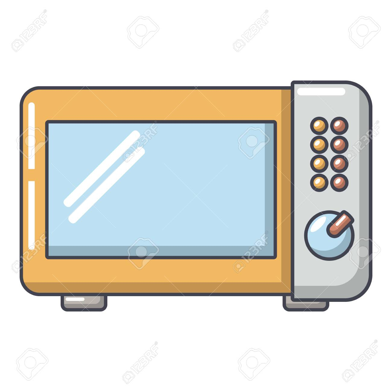 microwave oven icon cartoon illustration of microwave oven vector