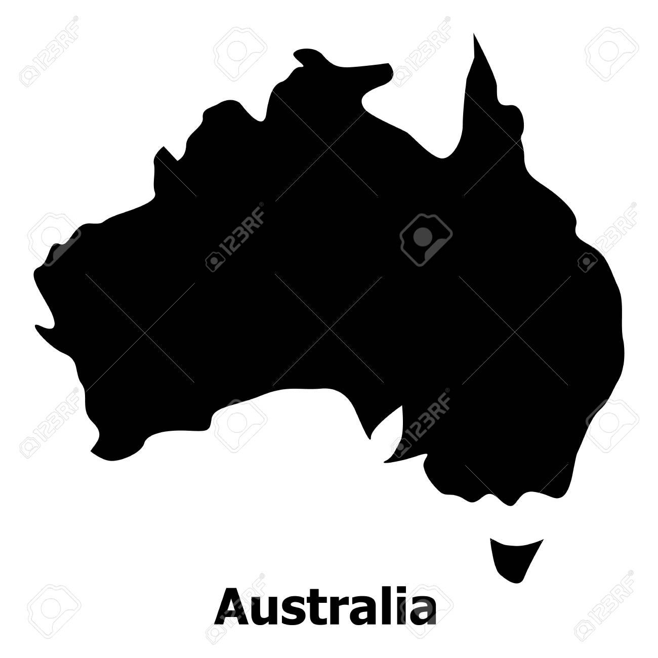 Australia Map Icon.Australia Map Icon Simple Illustration Of Australia Map Vector