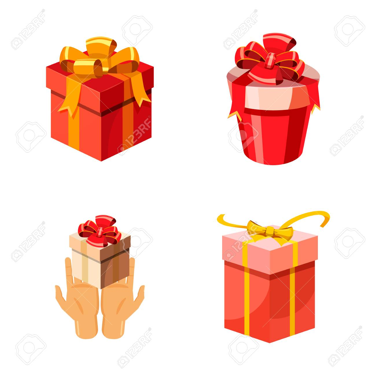 Gift Box Icon Set Cartoon Set Of Gift Box Vector Icons For Web Royalty Free Cliparts Vectors And Stock Illustration Image 94527370