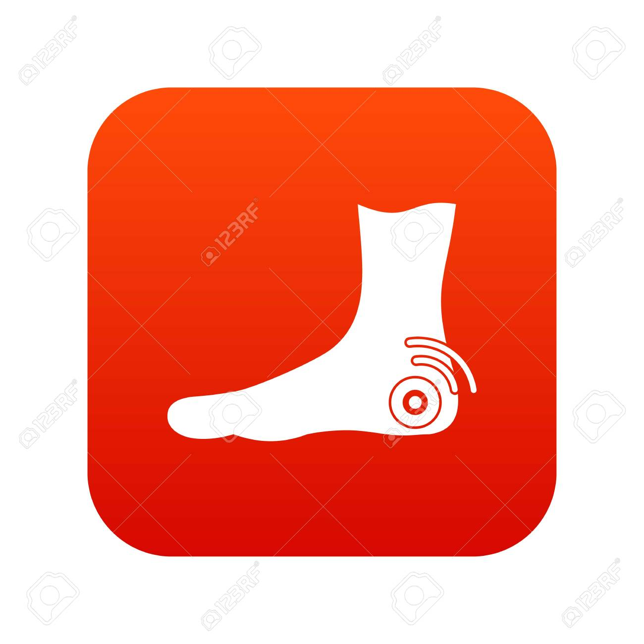 9873f86e6f2 Foot heel icon digital red Vector illustration.