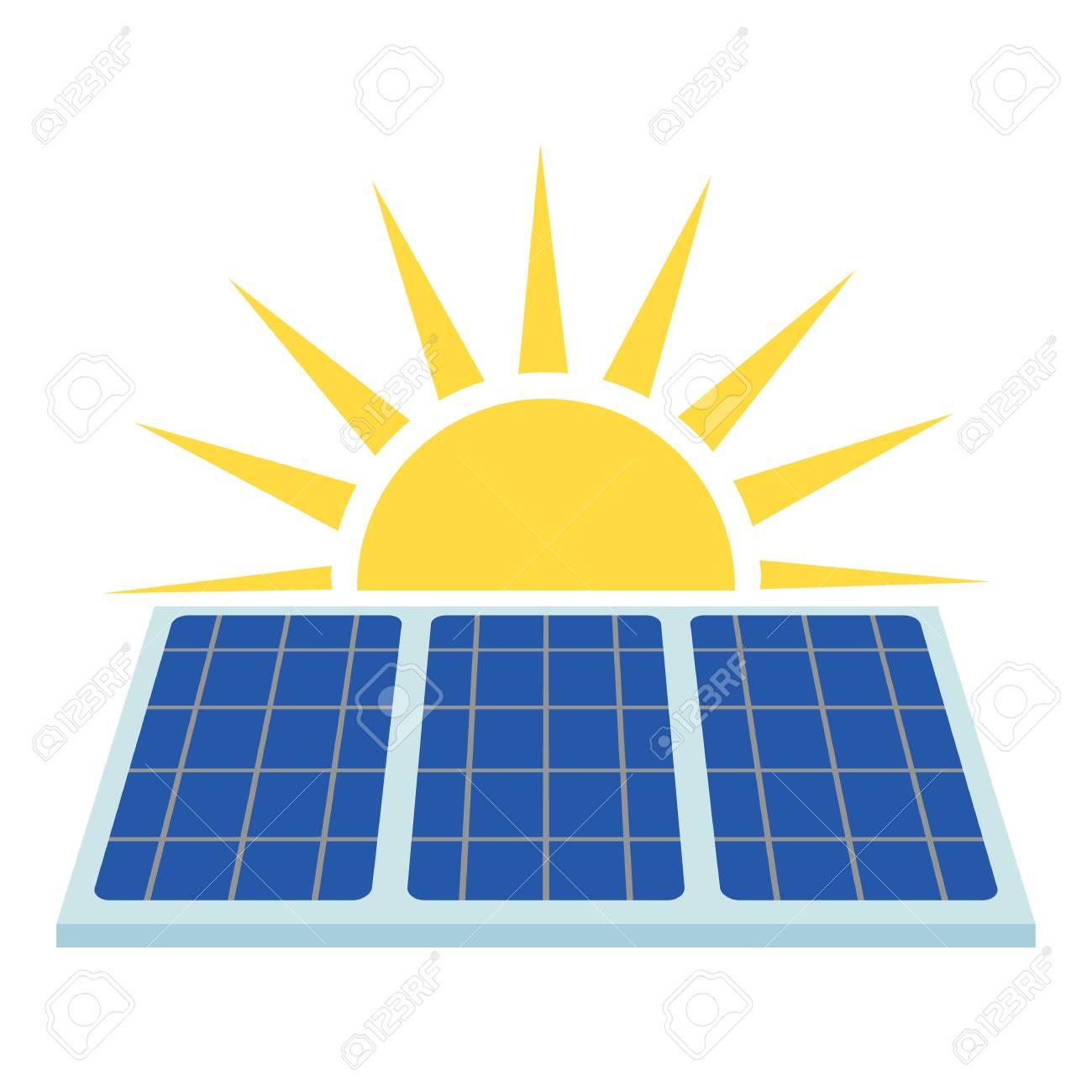 Solar panel icon  Flat illustration of solar panel vector icon