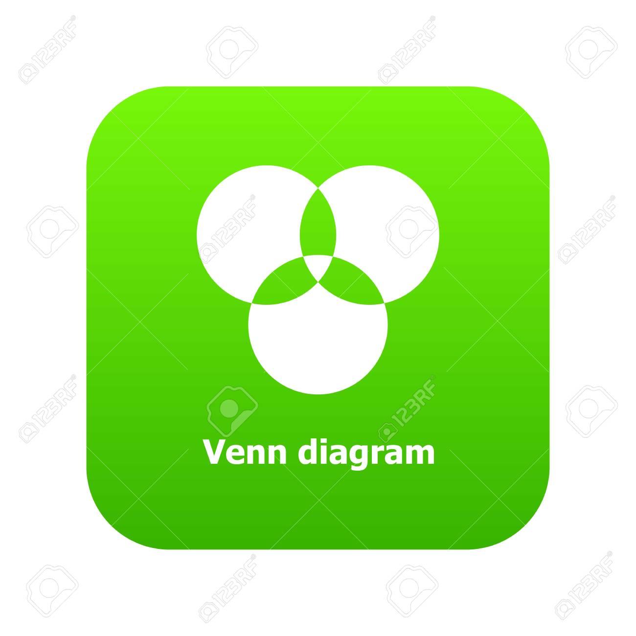 Round venn diagram icon green vector isolated on white background round venn diagram icon green vector isolated on white background stock vector 99983143 ccuart Choice Image
