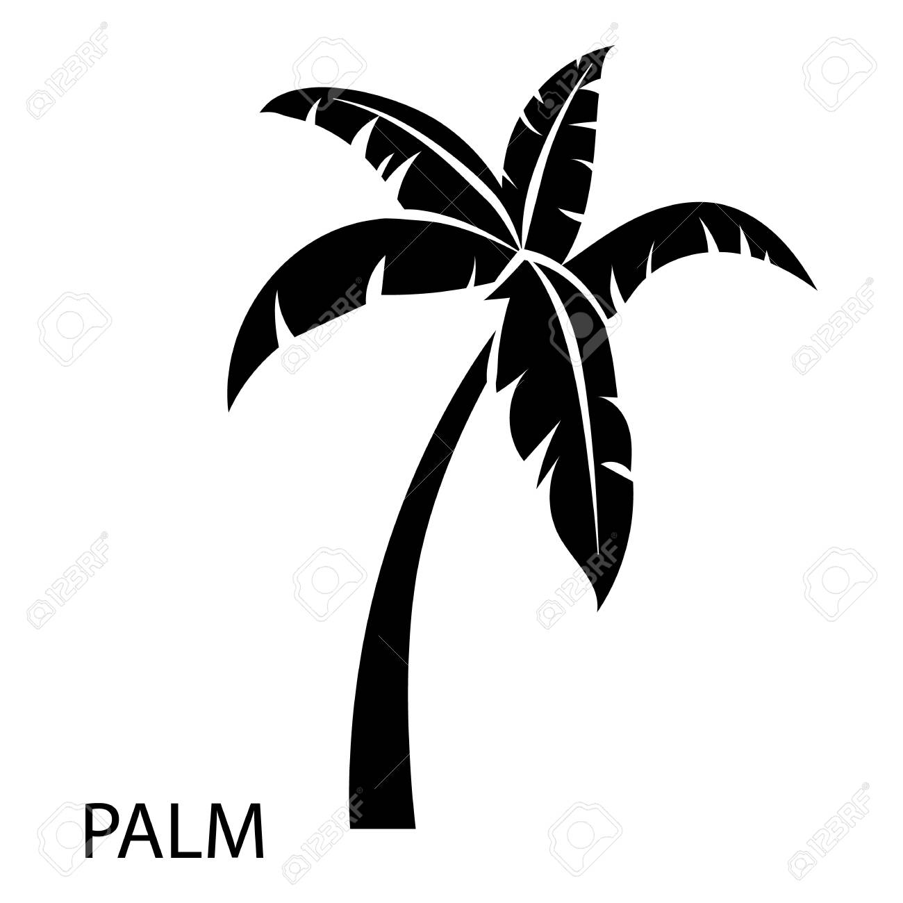 palm tree icon simple illustration of palm tree vector icon rh 123rf com palm tree vector image palm tree vector free