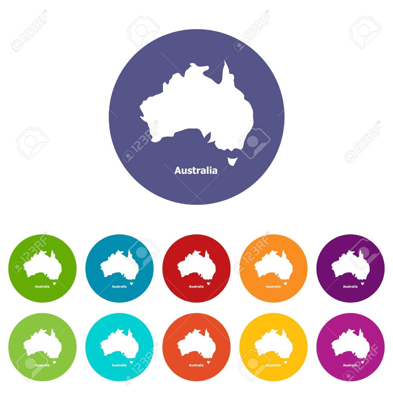 Australia Map Icon.Australia Map Icon Simple Style